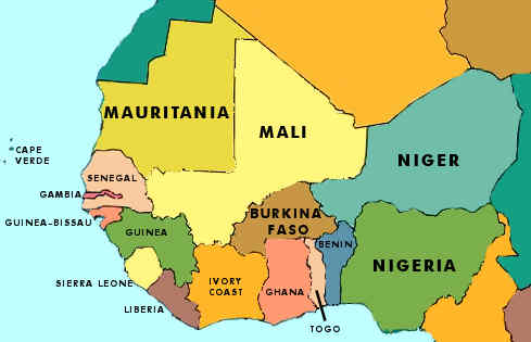 West Africa Map With Capitals Image Galleries